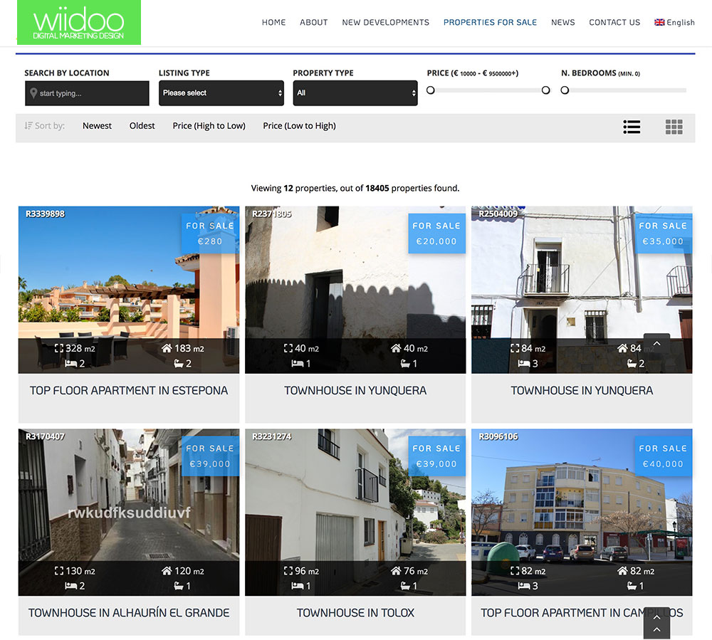 resales online wordpress plugin costa del sol property portal wiidoo media marketing