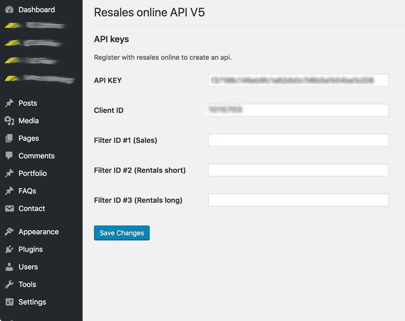 ReSales Online WordPress plugin integrates the latest version of ReSales Online popular property API service
