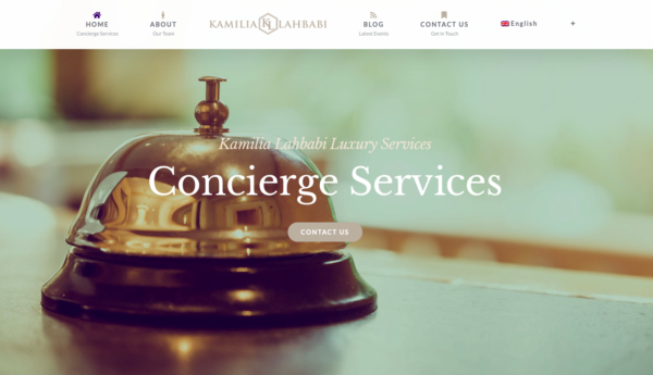 Kamilia Lahbabi Concierge Services Marbella - Design by Wiidoo Media Digital Marketing