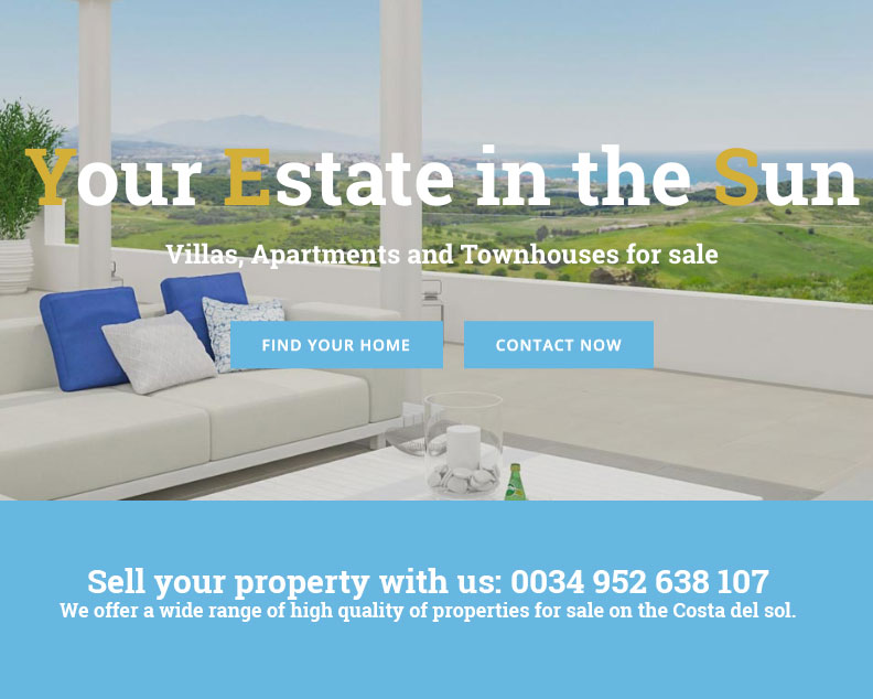 your estate in the sun real estate website wiidoo media marbella wordpress resales online