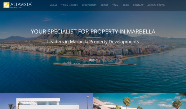 Alta Vista properties deigned by wiidoo media digital marketing agency Marbella