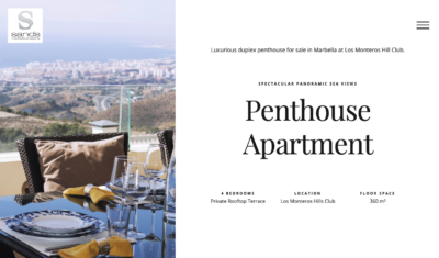 penthouse landing page designed by wiidoo media