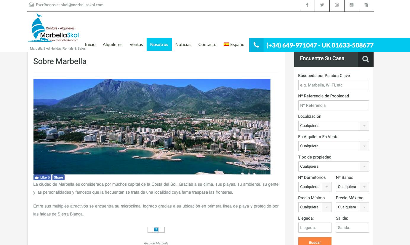 wiidoo media website design - marbellaskol project