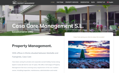 Casa Care Property Management Services Website designed by Wiidoo Media