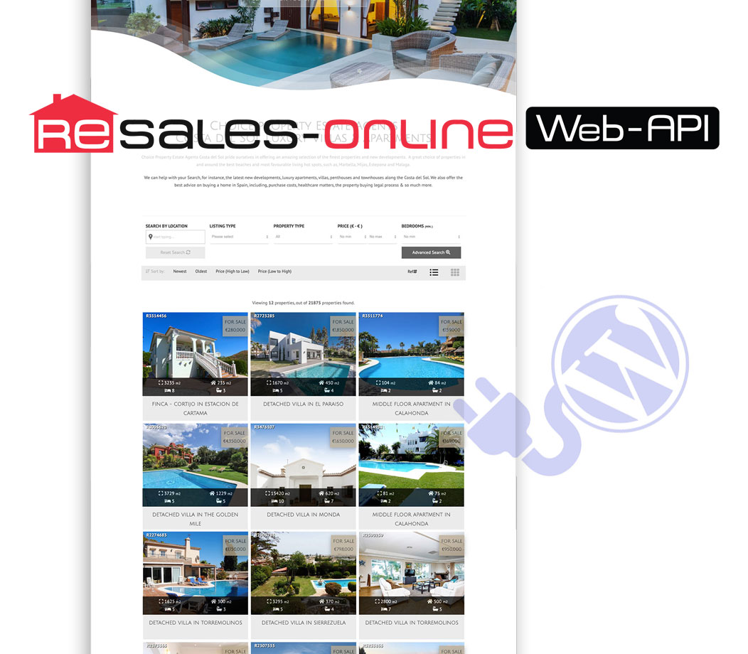 resales online wordpress plugin costa del sol property portal wordpress plugin marbella wiidoo