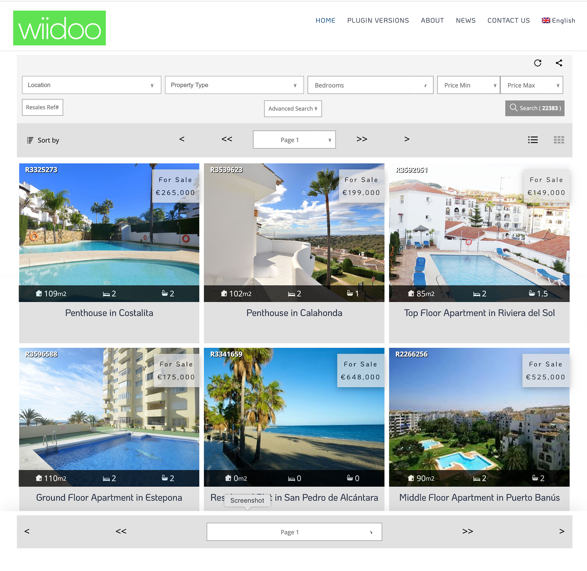 wordpress plugin for resales online costa del sol property portal wiidoo media marketing