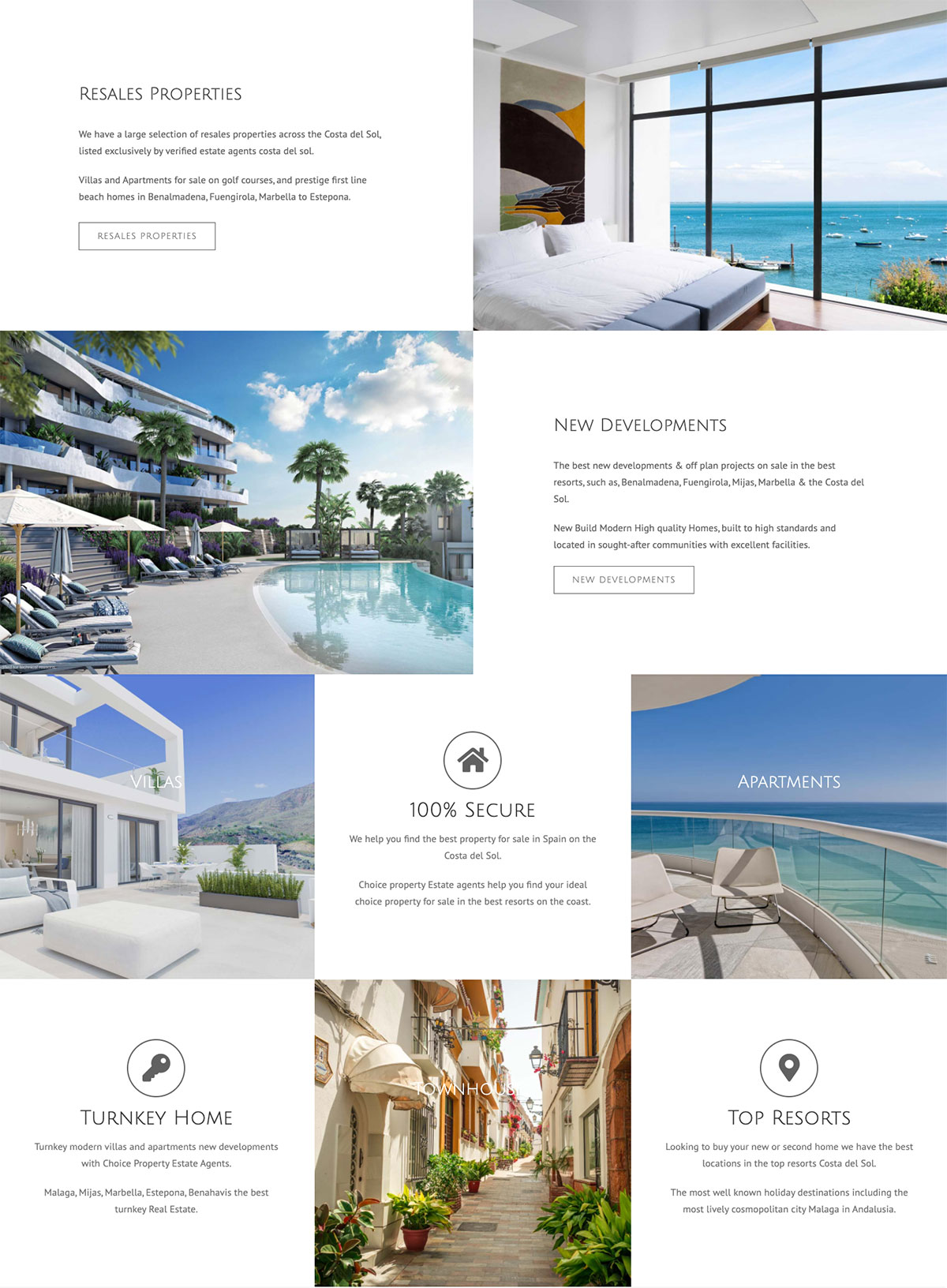 real estate website with resales online wordpress website design marbella