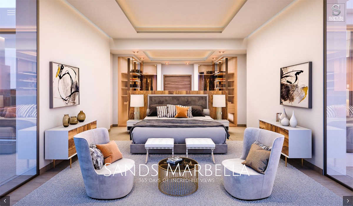 sands marbella property, real estate developers in marbella custom wordpress design