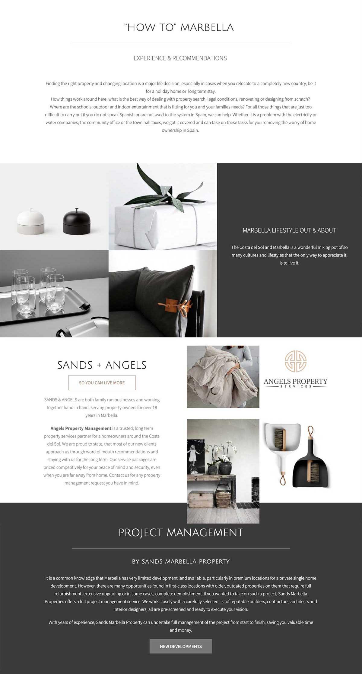WordPress website design marbella real estate property website marbella