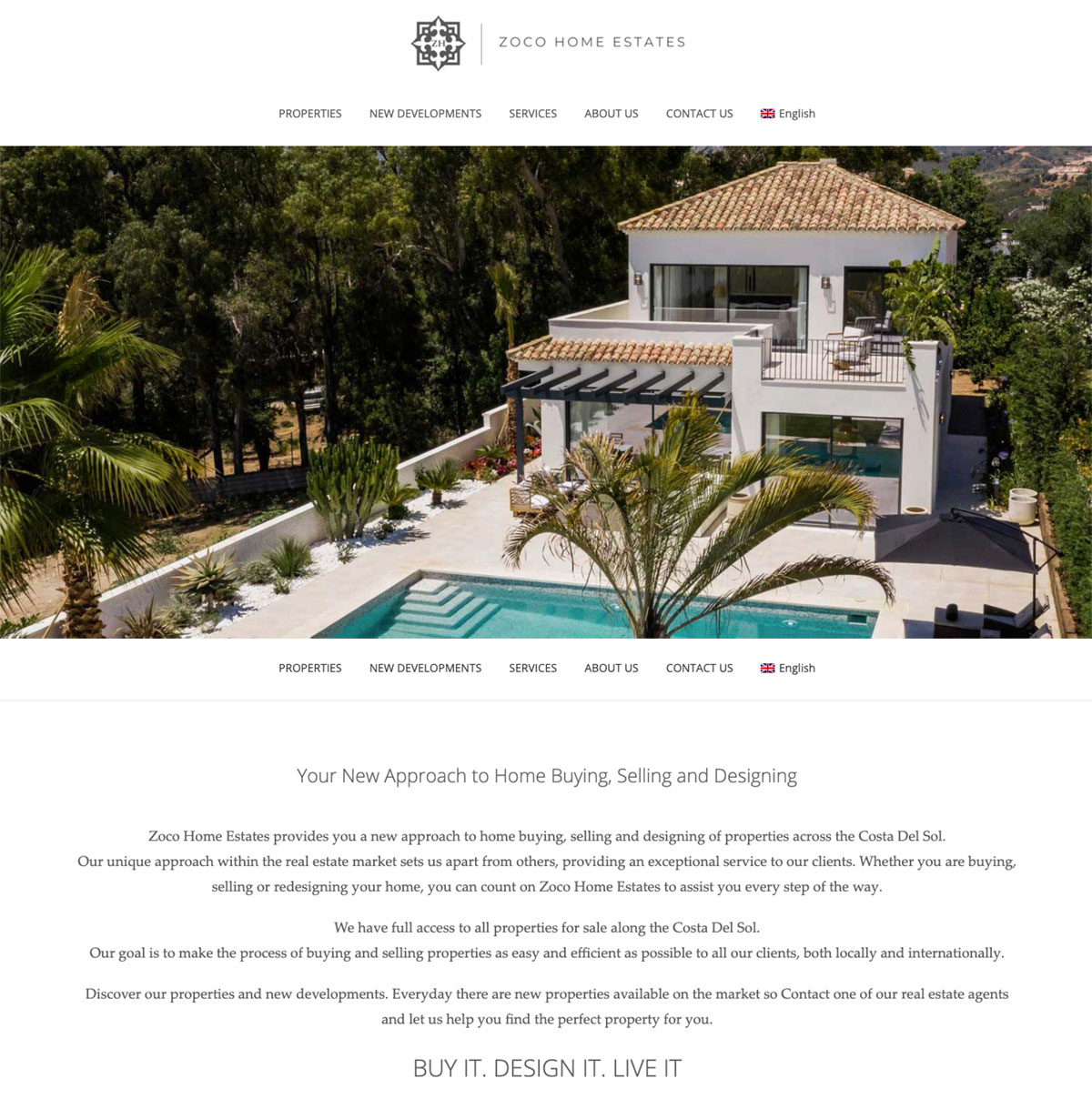 Zoco Home Estates Real estate website resales online plugin for wordpress, custom website design