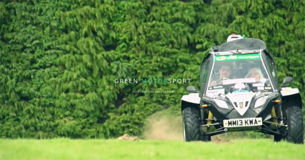 WordPress website design 2020 Green Motor Sport, liquid cooled electric engines.