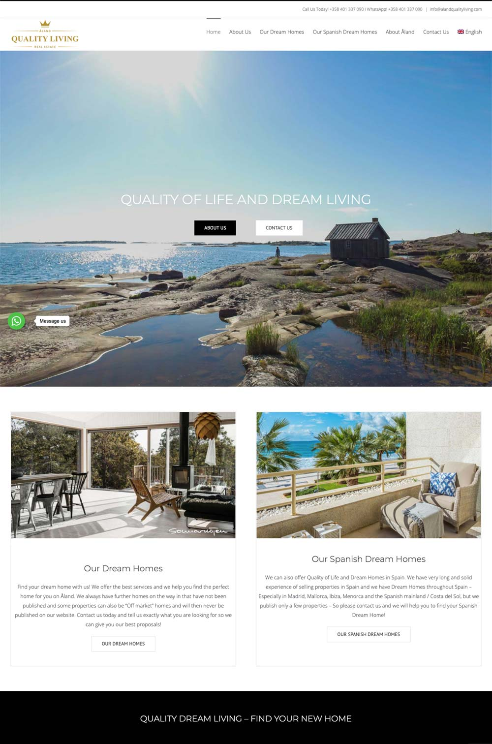 wordpress real estate website best website design for real estate properties Marbella design Agency