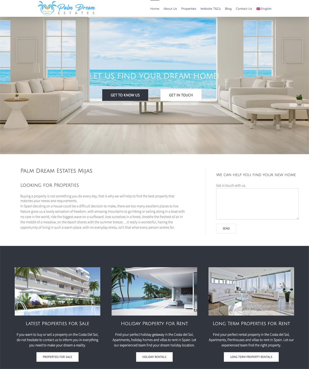 real estate marbella website with resales online plugin for wordpress